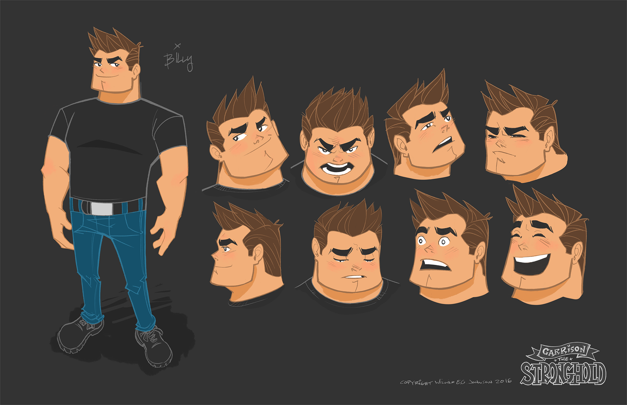Billy Strong – Character Design