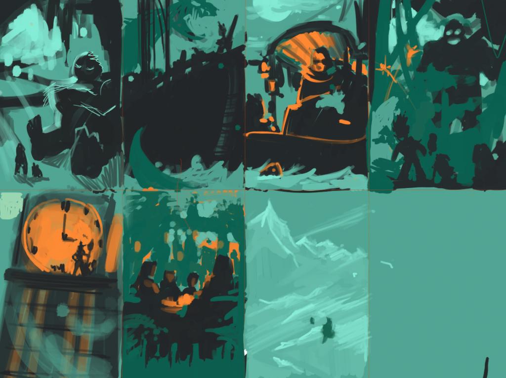 Story Keys Concept Art Thumbnails